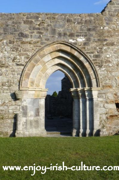 Doorway of the Cathedral at Clonmacnoise,Ireland's most important early Christian monastery in County Offaly.
