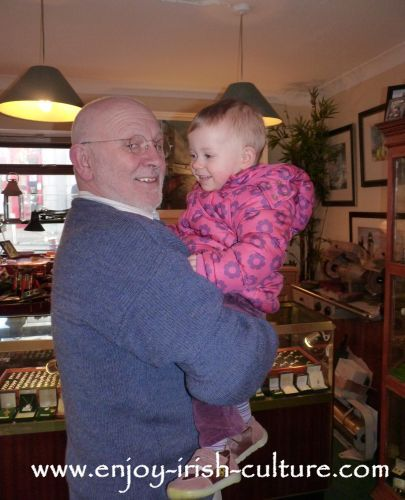 Proprietor of Dillon's Jewellery shop Johnathan Margetts with our daughter Tara.