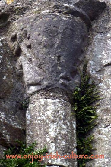 Abbey at Boyle, County Roscommon, Sheela Na Gig carving.