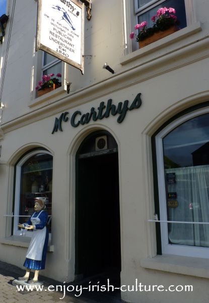 Fethard, County Tipperary, Ireland- McCarthy's Pub, restaurant and undertakers all under one roof