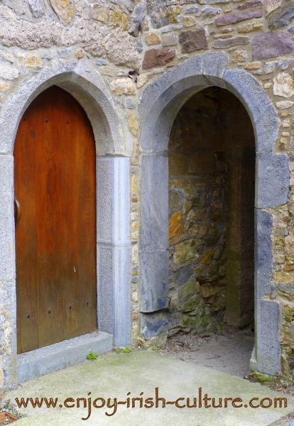 Archways at the Ormond Castle at Carrick on Suir, Tipperary, Ireland, the first ever unfortified Irish castle.