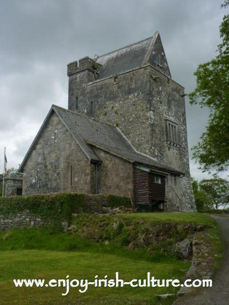 Heritage Museum at Craggaunowen,Quin, County Clare, Ireland- Craggaunowen Castle, a 15th century Irish castle.