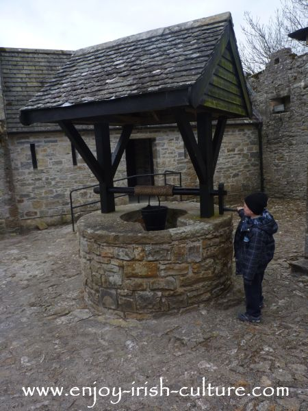 The well at Parke's Castle, County Leitrim, Ireland.