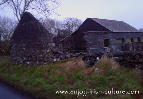 The Potato Famine in Ireland and its aftermath of emigration left behind many abandoned cottages in the countryside.