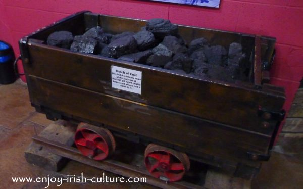 A hutch of coal at the museum at Arigna Mines County Roscommon, Ireland.