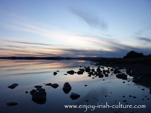 Lough Corrib that spans counties Galway and Mayo, seen here at Annaghdown.