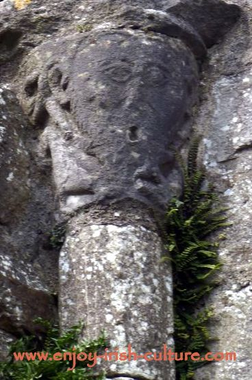 Abbey at Boyle, County Roscommon, Sheela Na Gig carving.