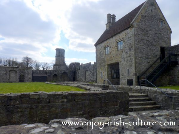 Abbey at Boyle, County Roscommon, Ireland, the inside of the abbey.