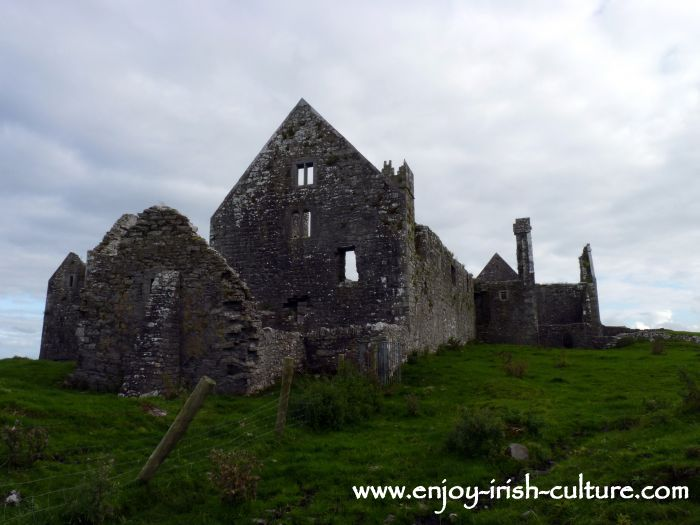 Rear view of Ross Abbey, Headford, County Galway.