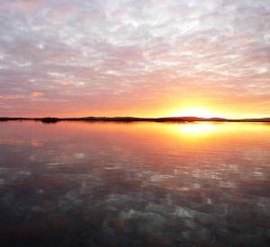 Lough Corrib sunset, County Galway, Ireland.