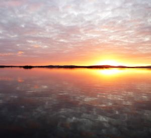 Lough Corrib sunset, County Galway, Ireland.