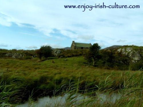 Irish Song Lyrics, Connemara Landscape, the setting of  Amhrán Mhuighinse