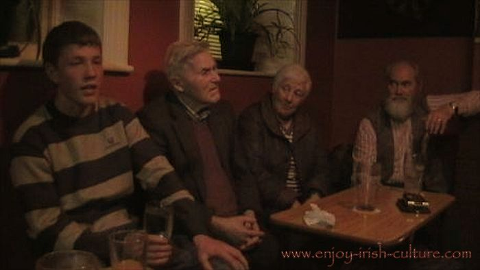 Traditional Irish song session at Gort, County Galway, Ireland.