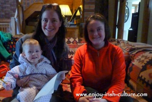 Jessica Cooke, the owner of Annaghdown Castle, County Galway, Ireland, has tea with us.