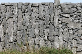 Aran Islands, Inishmaan, one of the many high stone walls on this rocky island.