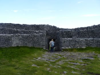 Entrance to Dun Aengus Fort on Inishmore, County Galway, Ireland.