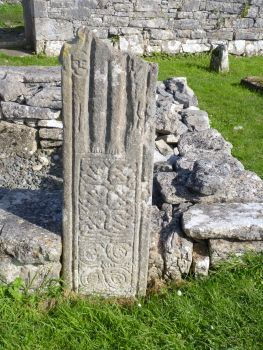 Aran Islands, Inis Mór, Seven Churches early Christian site- remnants of an ancient High Cross.