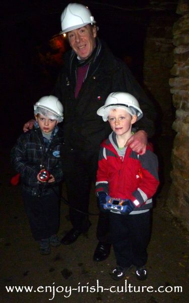 Arigna Mines County Roscommon, tour guide and kids