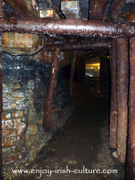 One of the mining tunnels at Arigna which, for tourist access, have been doubled in height.
