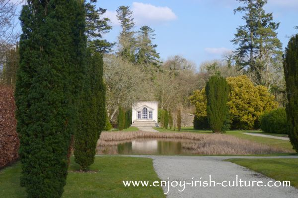 The walled garden at Strokestown Park House, County Roscommon, Ireland.