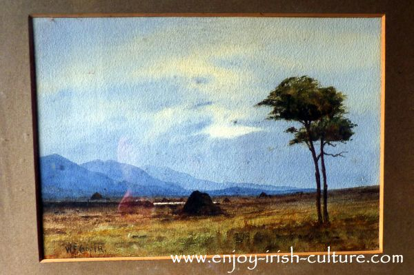 A watercolour painting by one of the family displayed at Strokestown Park House, County Roscommon, Ireland.