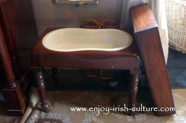 A Victorian bidet at Strokestown Park House, County Roscommon, Ireland.