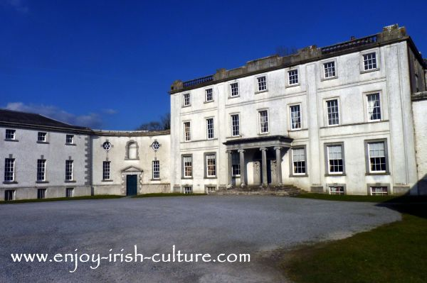 Strokestown Park House, County Roscommon, Ireland, a Palladian style residence built in the early 1700's.