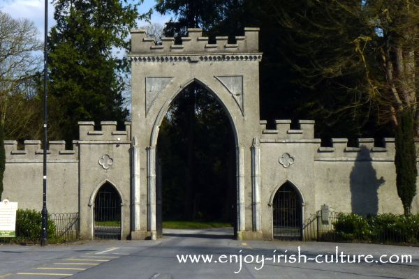 The Era of the Irish Big House- gate to Strokestown Park House estate,  County Roscommon Ireland