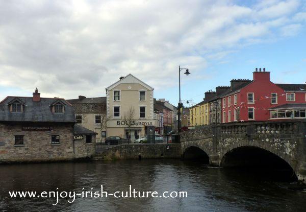 Boyle river and bridge, County Roscommon, Ireland.