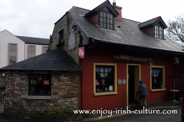 The Stone House Cafe at the riverside in Boyle town, County Roscommon, Ireland.