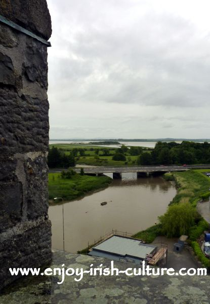 A view from the battlements of Bunratty Castle, County Clare, Ireland