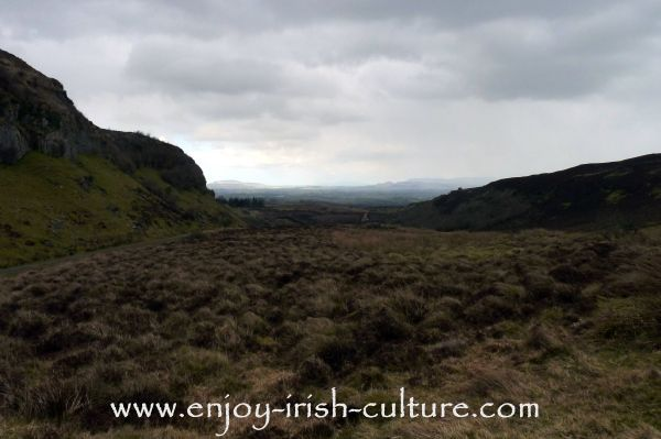 The valley below the Carrowkeel complex of megalithic tombs in County Sligo, Ireland.