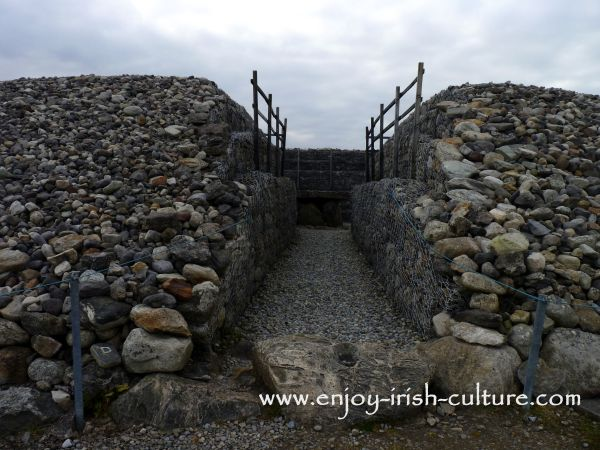 The entrance to Listoghil passage grave County Sligo, Ireland- one of ancient Ireland's premiere sites.