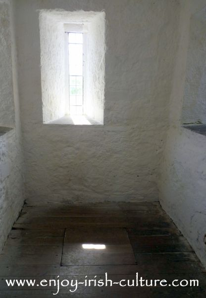 Trap door leading to the oubliette at Cahir Castle, County Tipperary, Ireland.