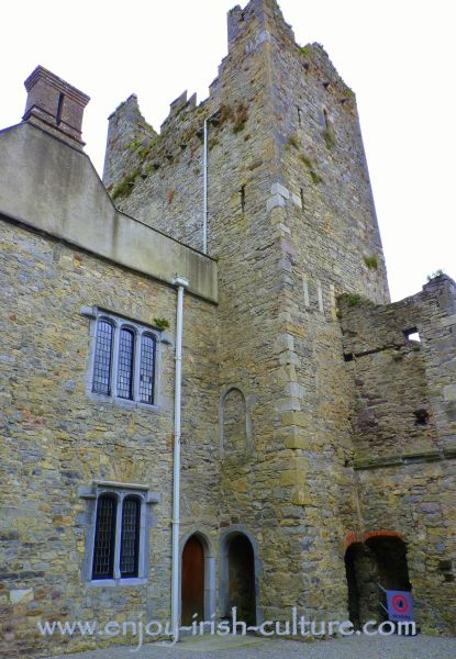 Medieval tower at the Ormond Castle at Carrick on Suir, Tipperary, Ireland.