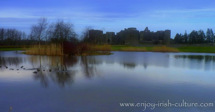 Roscommon Castle in Roscommon town, Ireland.