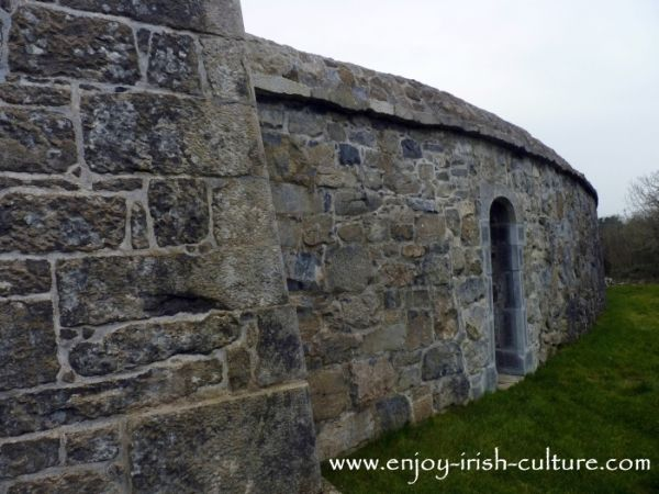 Bawn wall at Annaghdown castle, County Galway, Ireland.