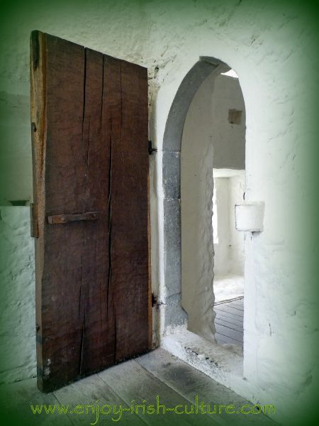 Internal door at Aughnanure Castle, Oughterrard, County Galway, one of the best medieval castles in Ireland.