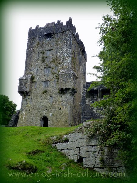Former port at Aughnanure Castle, Oughterrard, County Galway, one of the best medieval castles in Ireland.