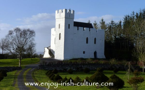 Cargin Castle near Headford, County Galway, Ireland.