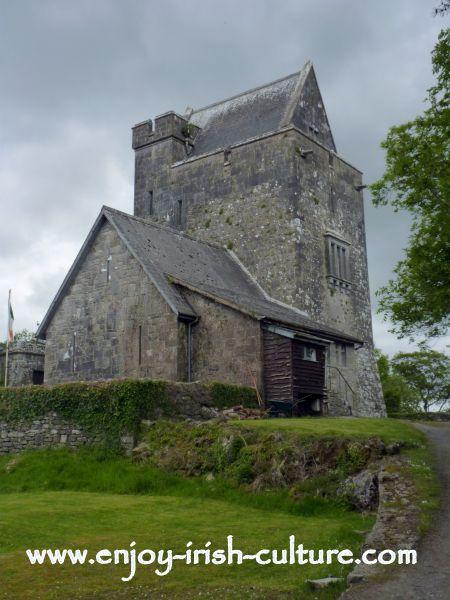 Craggaunowen Castle, County Clare, Ireland.