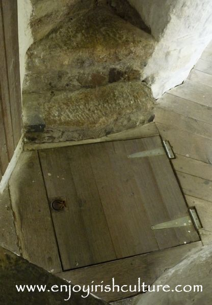 Trap door to the oubliette at Cahir Castle, County Tipperary, Ireland.