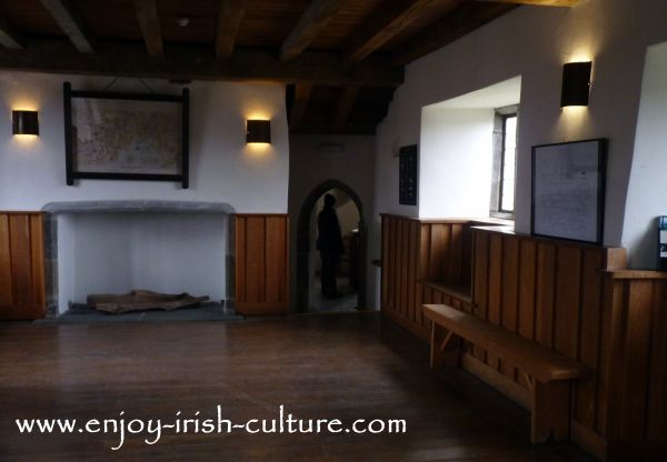 Parke's Castle, County Leitrim, Ireland, banqueting hall.