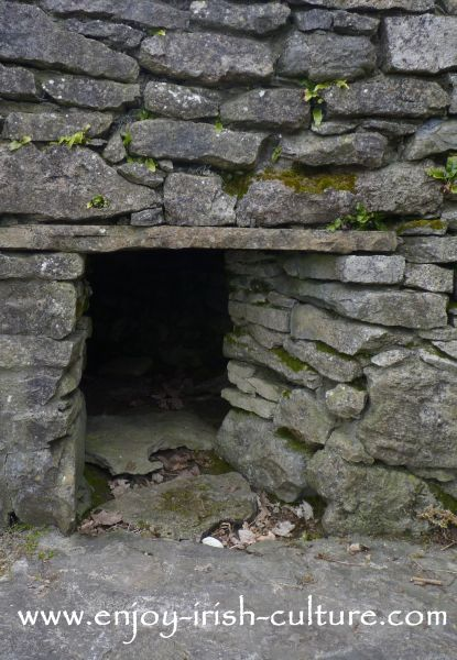 11th century sweat house on the grounds of Parke's Castle, County Leitrim, Ireland.