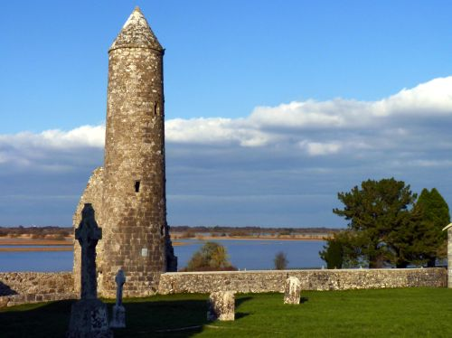 Irish Culture Clonmacnoise Roundtower