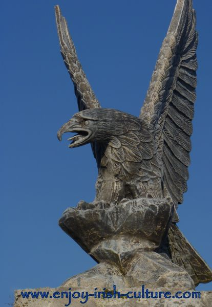Eagle sculpture at the gate.