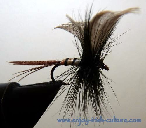 Irish fishing flies- a spent gnat.