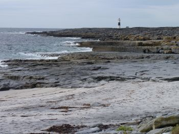 Inisheer lighthouse, Aran Islands, County Galway, Ireland.