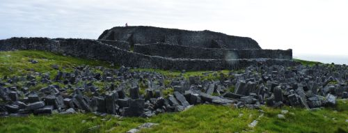 Prehistoric Stonefort, Aran Islands, County Galway, Ireland.