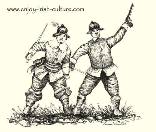 Two soldiers of Cromwell's New Model Army that invaded Ireland in 1649.